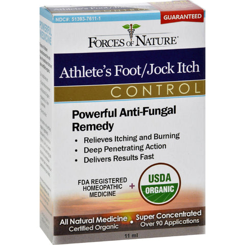 Forces Of Nature Organic Athlete's Foot And Jock Itch Control - 11 Ml - Humble + Lavi