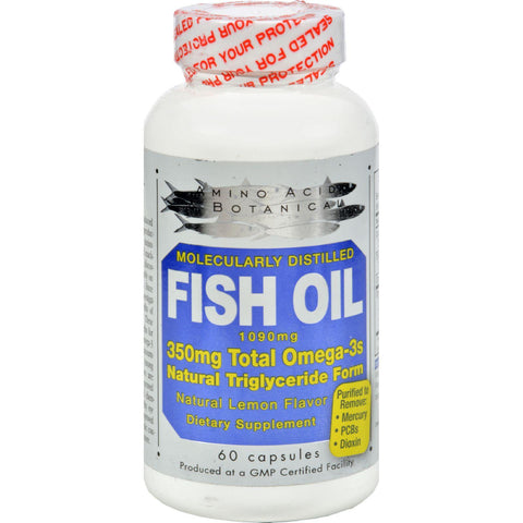 Amino Acid And Botanical Fish Oil - 1090 Mg - 60 Caps - Humble + Lavi
