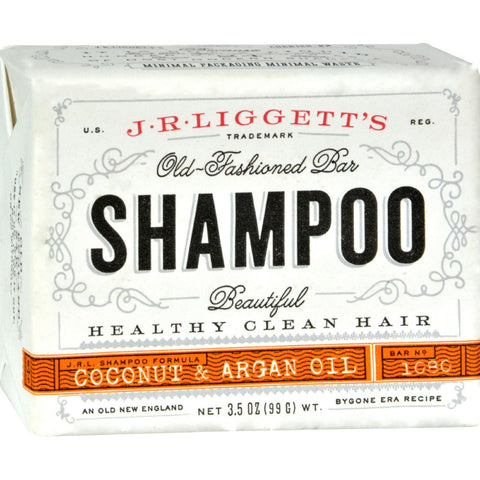 J.r. Liggett's Shampoo Bar - Coconut And Argan - 3.5 Oz - Humble + Lavi