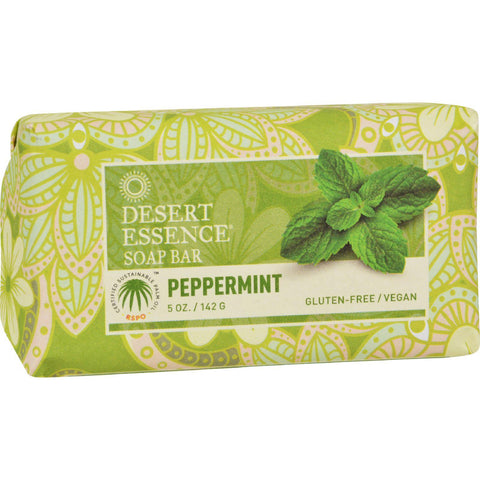 Desert Essence Bar Soap - Peppermint - 5 Oz - Humble + Lavi