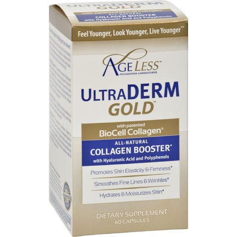 Ageless Foundation Ultraderm Gold Collagen Booster - 60 Capsules - Humble + Lavi
