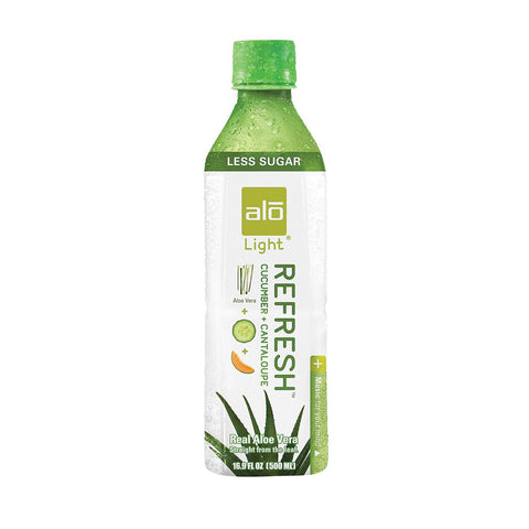 Alo Light Refresh Aloe Vera Juice Drink - Cucumber And Cantaloupe - Case Of 12 - 16.9 Fl Oz. - Humble + Lavi