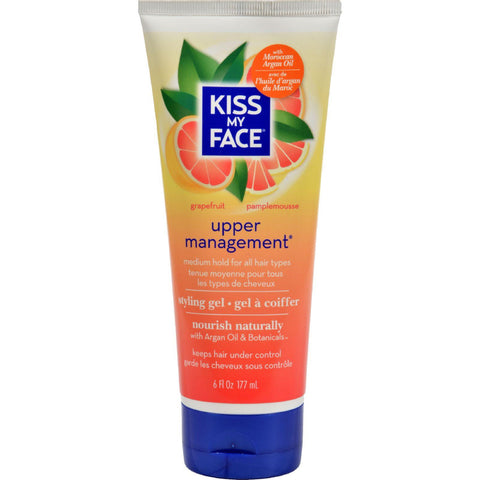 Kiss My Face Styling Gel - Upper Management - 6 Fl Oz - Humble + Lavi
