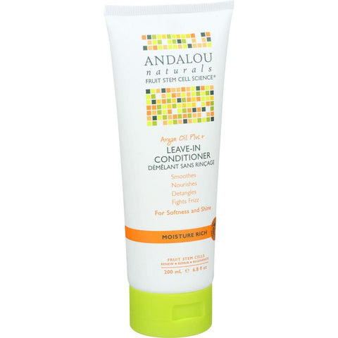 Andalou Naturals Conditioner - Moisture Rich Leave In - Argan Oil Plus - 6.8 Oz - Humble + Lavi
