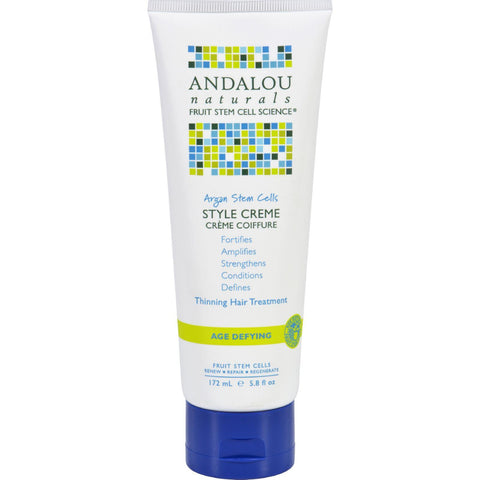 Andalou Naturals Style Creme - Argan Stem Cells - 5.8 Oz - Humble + Lavi