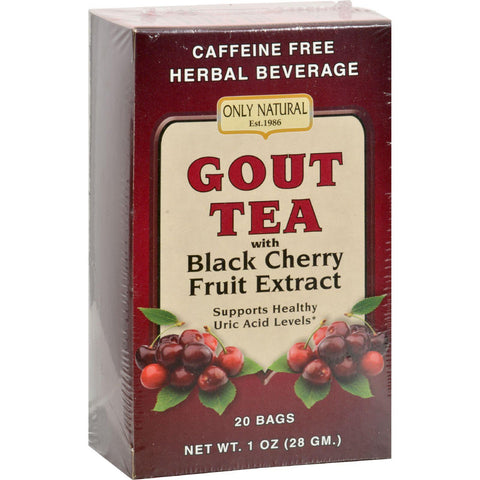 Only Natural Gout Tea - Black Cherry Fruit Extract - 20 Bags - Humble + Lavi