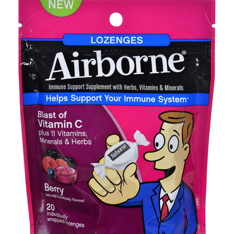 Airborne Lozenges With Vitamin C - Berry - 20 Count - Humble + Lavi