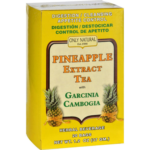 Only Natural Tea - Pineapple Extract - Garcinia Cambogia - 20 Tea Bags - Humble + Lavi