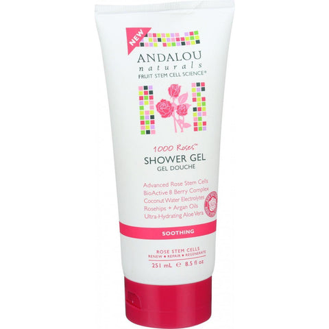 Andalou Naturals Soothing Shower Gel - 1000 Roses - 8.5 Oz - Humble + Lavi