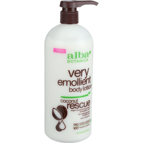 Alba Botanica Body Lotion - Very Emollient - Coconut Rescue - 32 Oz - Humble + Lavi