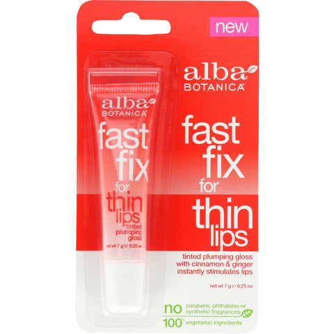 Alba Botanica Fast Fix For Thin Lips - .25 Oz - Case Of 6 - Humble + Lavi
