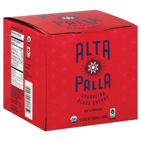 Alta Palla Organic Sparking Fruit Juice - Black Cherry - Case Of 6 - 12 Fl Oz. - Humble + Lavi