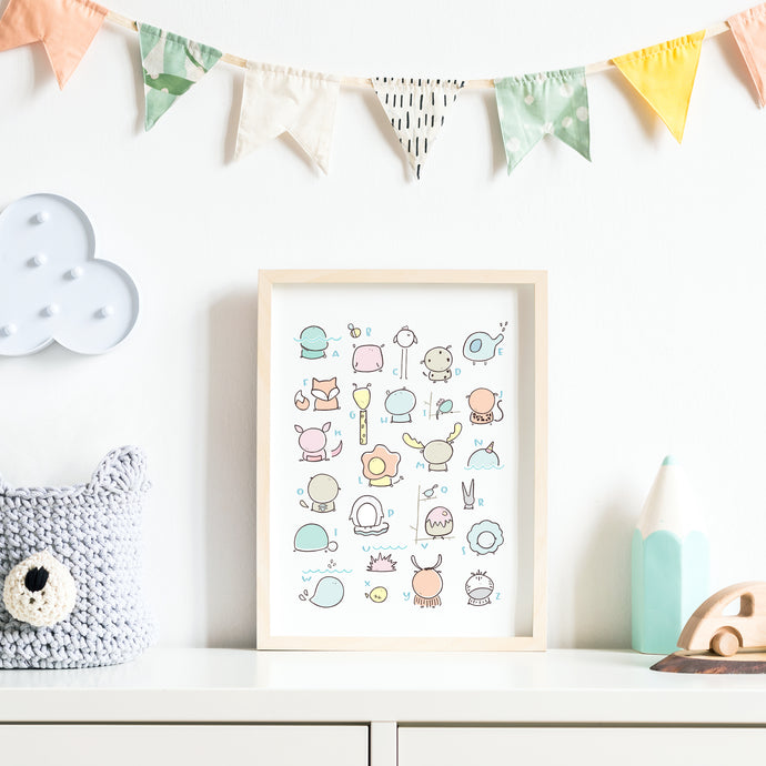 ABC Nursery Animals Print