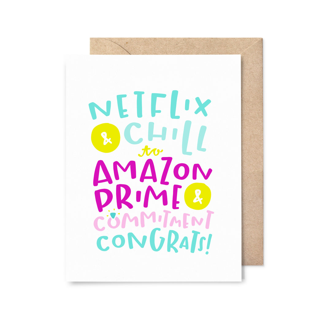 Amazon Prime & Commitment Wedding Card