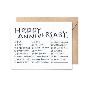 Anniversary Check Card