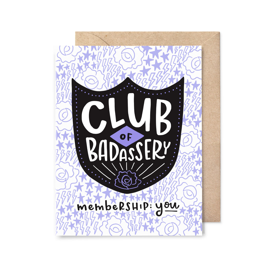Club of Badassery Card