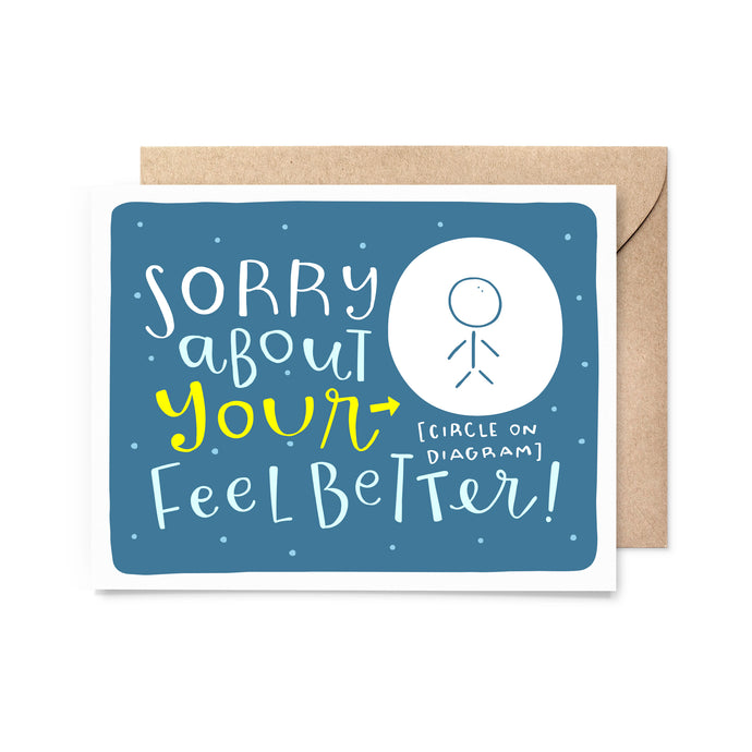 Feel Better Diagram Get Well Card