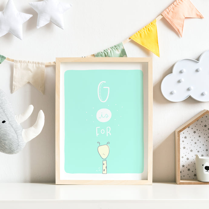 G is for Giraffe Nursery Print