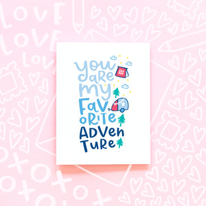 Favorite Adventure Love Card