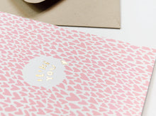 Load image into Gallery viewer, I Like You Gold Foil Love Card