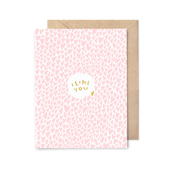 I Like You Gold Foil Love Card