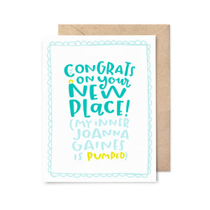 Inner Joanna Gaines Congrats Card