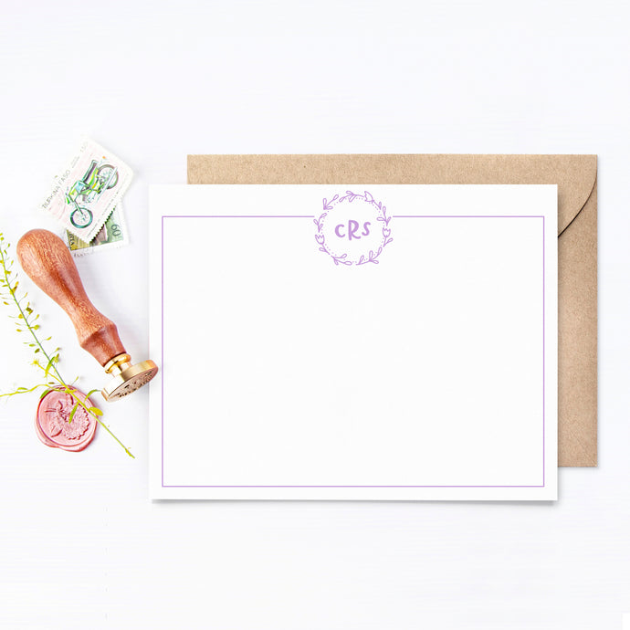 Floral Monogram Personalized Stationery