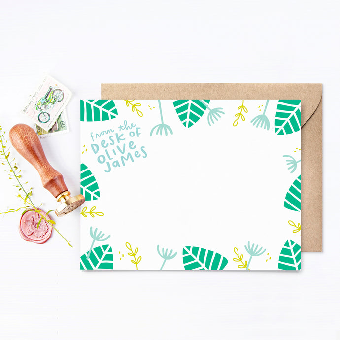 Monstera Personalized Stationery