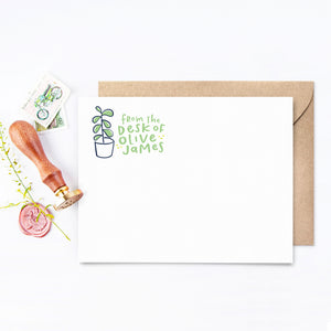 Succulent Personalized Stationery