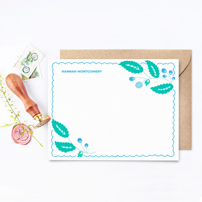 Bloom Personalized Stationery