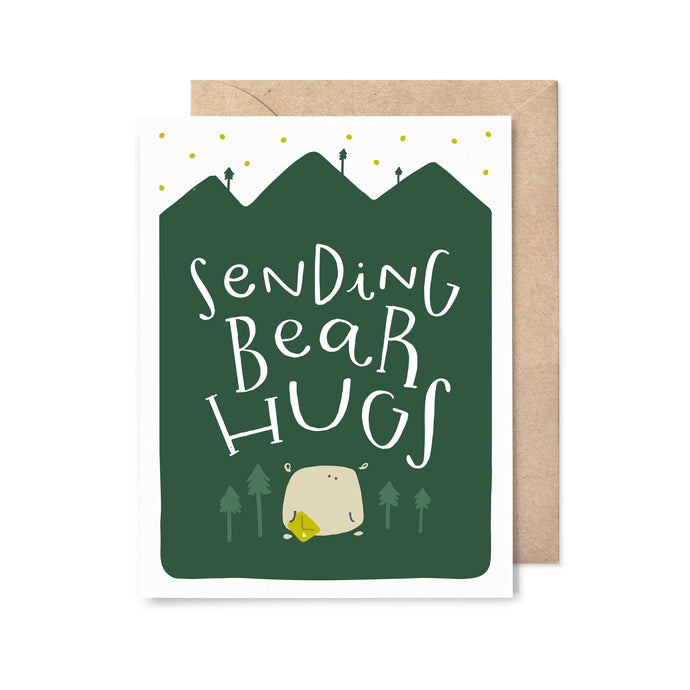 Sending Bear Hugs Sympathy Card