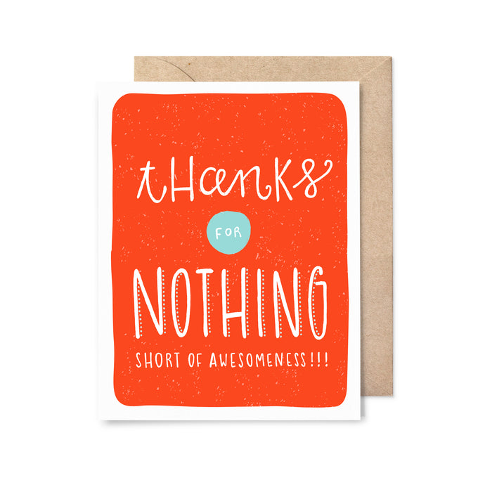 Thanks For Nothing Thank You Card