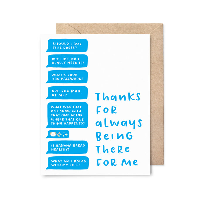 There for Me Friendship Card