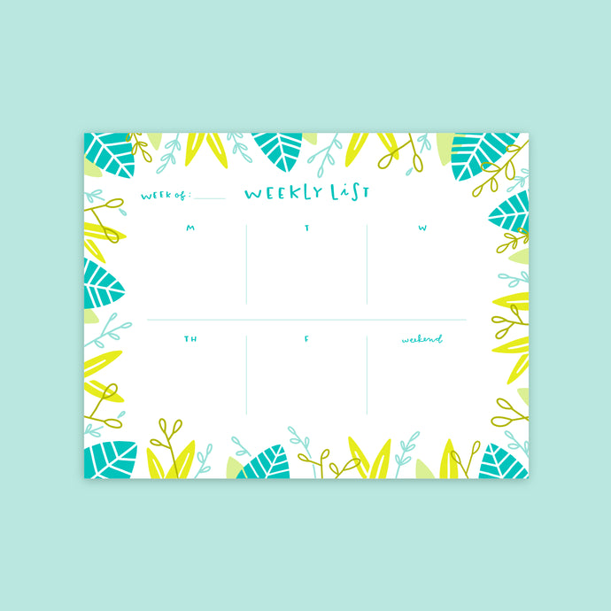 Tropical Weekly Desk Planner