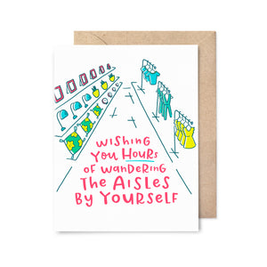 Wandering the Aisles Card