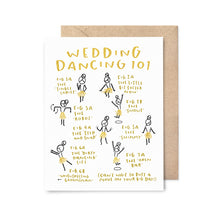 Load image into Gallery viewer, Wedding Dancing 101 Gold Foil Card