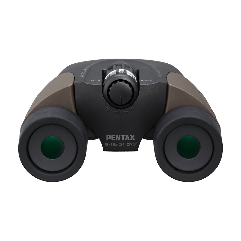 Pentax UP 8-16x21 Binoculars With Case - Brown