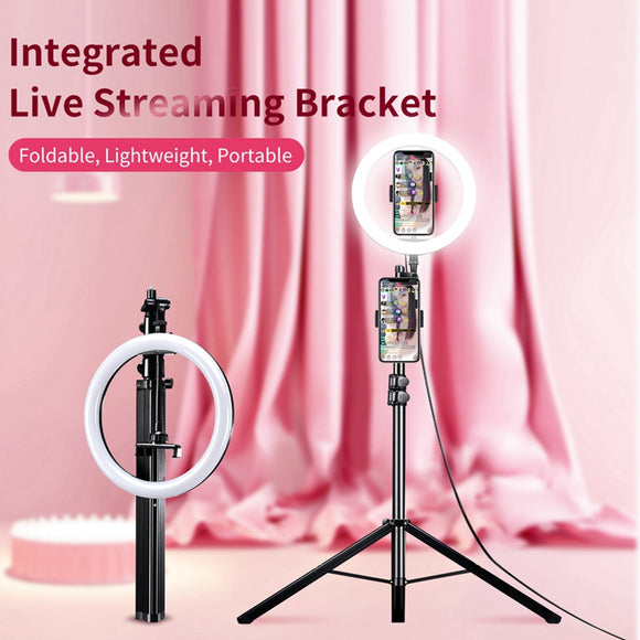 ULANZI Selfie Ring Light with Tripod Stand for Live Broadcast