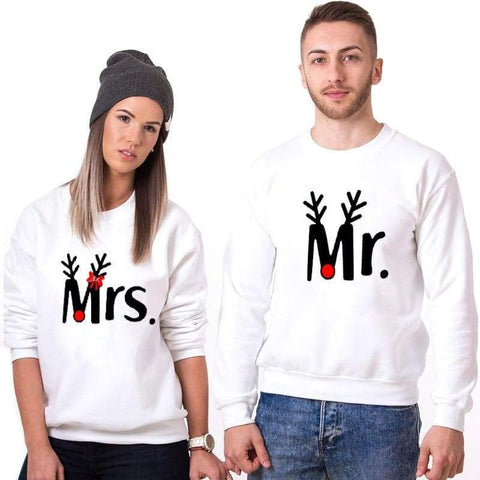 Pull Couple <br/> Mr & Mrs (Edition Noël)
