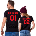 T Shirt Couple <br/> Mr Mrs Santa