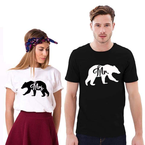 T Shirt Couple <br/> Monsieur et Madame Ourson