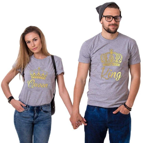 T Shirt Couple <br/> Roi & Reine