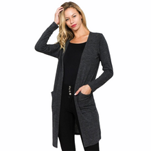 Load image into Gallery viewer, Charcoal Gray Colored Cardigan