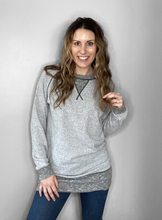 Load image into Gallery viewer, 2 Tone Gray Long Sleeve