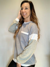 Load image into Gallery viewer, Tan & Gray Long Sleeve