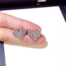 Load image into Gallery viewer, Heart Crystal Earrings