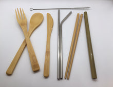 Load image into Gallery viewer, Last Straw Eco-Friendly Bamboo & Stainless Utensil Set