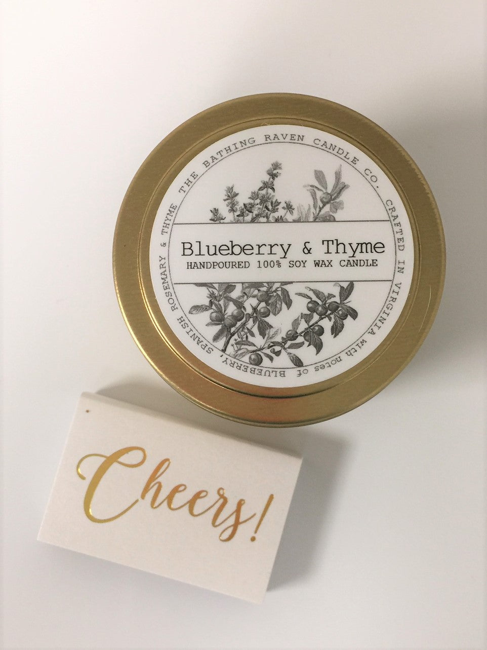 The Bathing Raven Blueberry & Thyme Petite Candle Tin