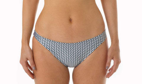 Cheeky Lady Bikini Pant - Herringbone