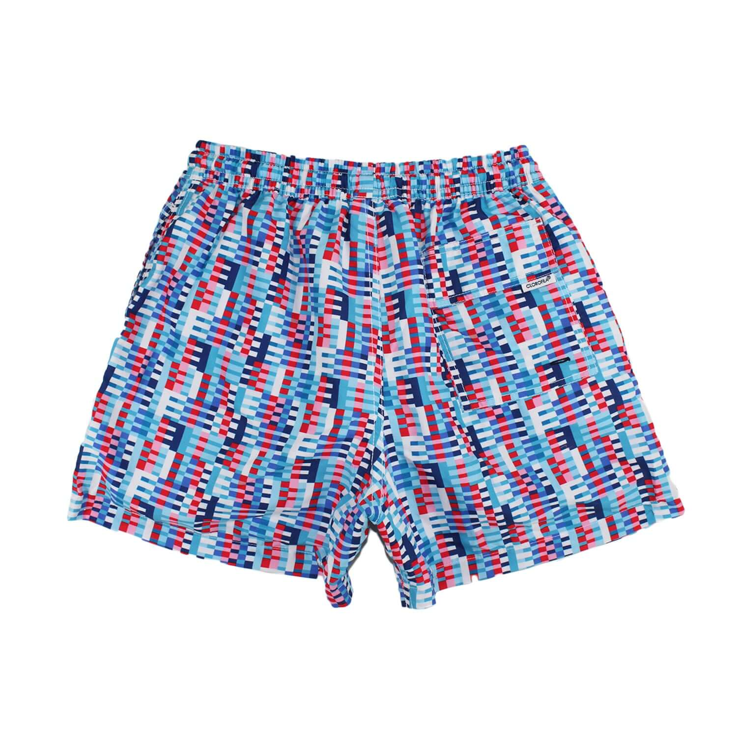 SQUARES BLUE/RED - Clorofila Sea Wear